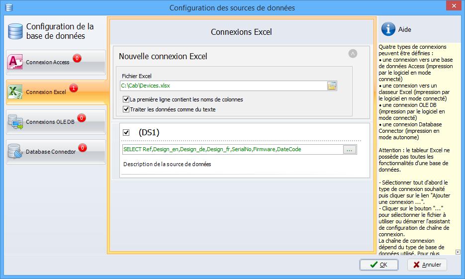 Configuration base de données